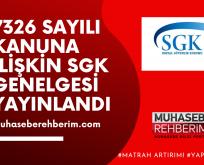 SGK Borçlarının Yapılandırılmasına İlişkin Genelge Yayınlandı